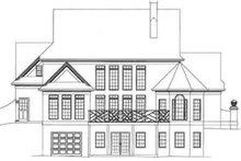 Colonial Exterior - Rear Elevation Plan #119-108