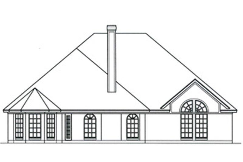 European Exterior - Rear Elevation Plan #42-396 - Houseplans.com