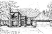 European Style House Plan - 4 Beds 3.5 Baths 3473 Sq/Ft Plan #310-148 Exterior - Front Elevation