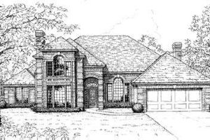 European Exterior - Front Elevation Plan #310-148