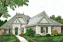 European Exterior - Front Elevation Plan #310-1287