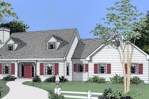 Colonial Exterior - Front Elevation Plan #101-203