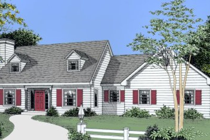Colonial Style House Plan - 3 Beds 2.5 Baths 1887 Sq/Ft Plan #101-203 Exterior - Front Elevation