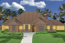 Dream House Plan - Mediterranean Exterior - Front Elevation Plan #84-598