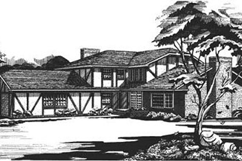 European Style House Plan - 3 Beds 2 Baths 2451 Sq/Ft Plan #320-144 Exterior - Front Elevation
