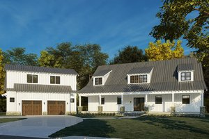 Country Exterior - Front Elevation Plan #923-200