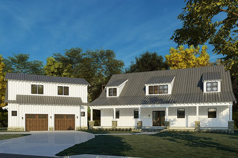 Dream House Plan - Country Exterior - Front Elevation Plan #923-200