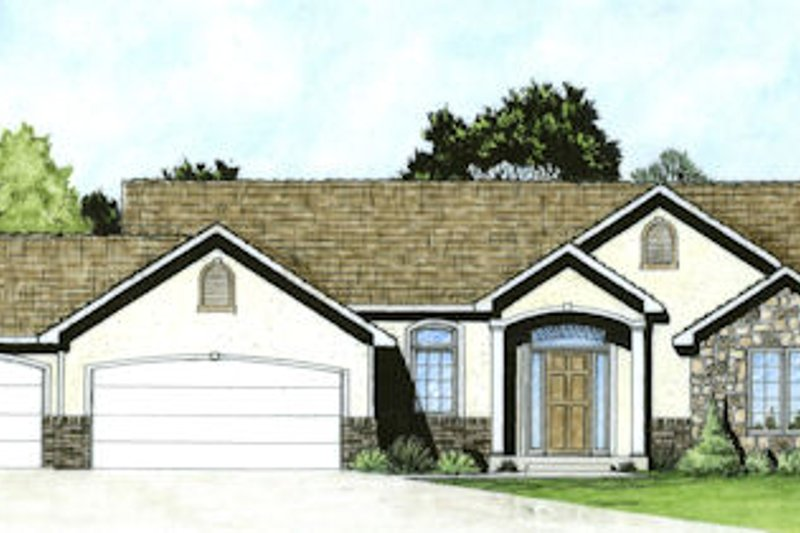 Home Plan - Traditional Exterior - Front Elevation Plan #58-163