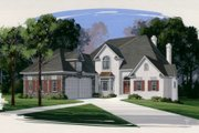 European Style House Plan - 4 Beds 4 Baths 3264 Sq/Ft Plan #56-213