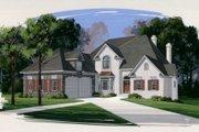 European Style House Plan - 4 Beds 4 Baths 3264 Sq/Ft Plan #56-213