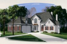 Dream House Plan - European Exterior - Front Elevation Plan #56-213