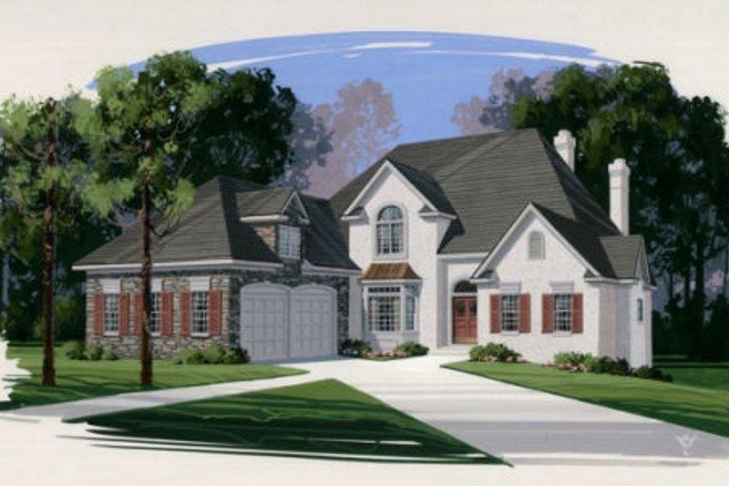 Home Plan Design - European Exterior - Front Elevation Plan #56-213