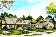 Country Style House Plan - 4 Beds 3.5 Baths 2830 Sq/Ft Plan #140-104 Exterior - Front Elevation