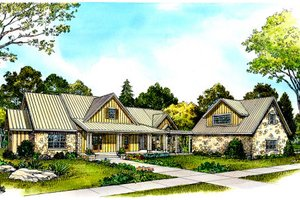 Country Exterior - Front Elevation Plan #140-104