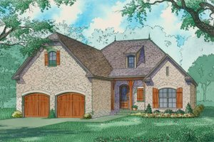 Ranch Exterior - Front Elevation Plan #923-92