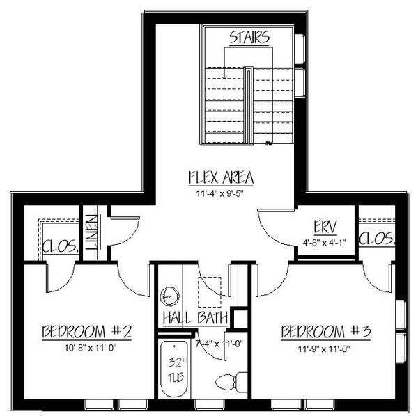 Craftsman Floor Plan - Upper Floor Plan Plan #895-83