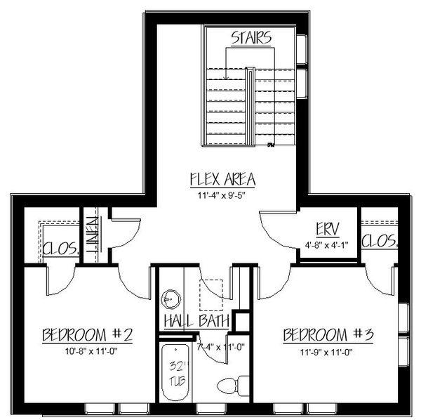 Craftsman Floor Plan - Upper Floor Plan Plan #895-83