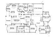 European Style House Plan - 3 Beds 3.5 Baths 3957 Sq/Ft Plan #411-833 Floor Plan - Main Floor Plan
