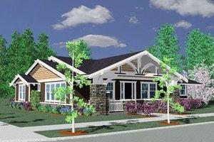 Craftsman Exterior - Front Elevation Plan #509-41