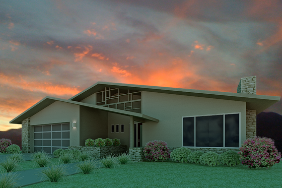 Ranch Exterior - Front Elevation Plan #489-3