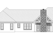 Dream House Plan - Traditional Exterior - Rear Elevation Plan #932-104