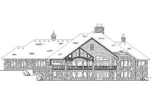 European Exterior - Rear Elevation Plan #5-346