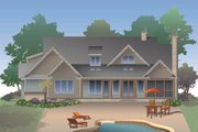 Craftsman Style House Plan - 3 Beds 2 Baths 2115 Sq/Ft Plan #929-32 Exterior - Rear Elevation
