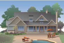 House Plan Design - Craftsman Exterior - Rear Elevation Plan #929-32