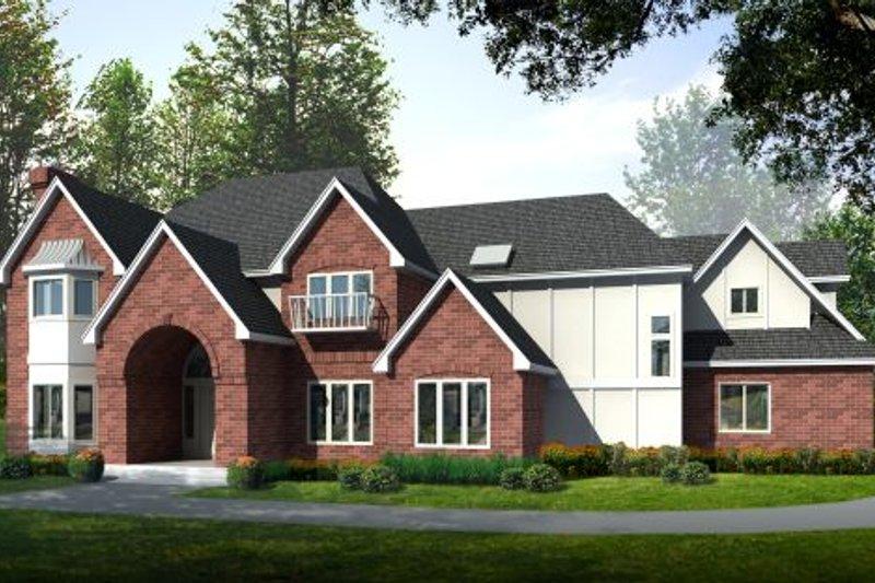 Architectural House Design - European Exterior - Front Elevation Plan #97-212