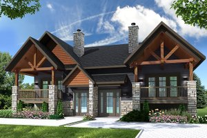 House Plan Design - Craftsman Exterior - Front Elevation Plan #23-2694