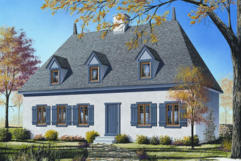 European Exterior - Front Elevation Plan #23-713