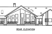 Country Style House Plan - 3 Beds 2.5 Baths 2916 Sq/Ft Plan #60-646 Exterior - Rear Elevation