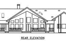 Country Exterior - Rear Elevation Plan #60-646
