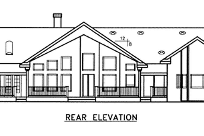 Country Exterior - Rear Elevation Plan #60-646 - Houseplans.com