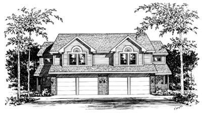 Traditional Exterior - Front Elevation Plan #20-565 - Houseplans.com