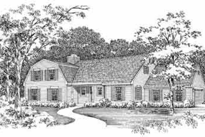 Country Exterior - Front Elevation Plan #72-352 - Houseplans.com