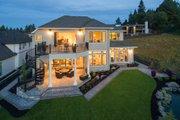 European Style House Plan - 4 Beds 4.5 Baths 4455 Sq/Ft Plan #48-650 Exterior - Rear Elevation