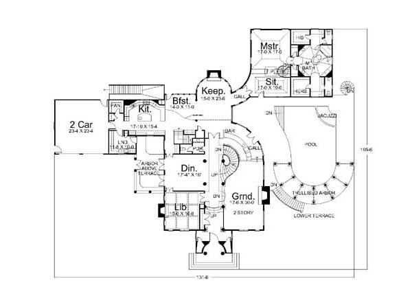 European Floor Plan - Main Floor Plan Plan #119-174
