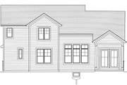 Craftsman Style House Plan - 4 Beds 2.5 Baths 2080 Sq/Ft Plan #46-891 Exterior - Rear Elevation