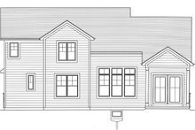 Home Plan - Craftsman Exterior - Rear Elevation Plan #46-891