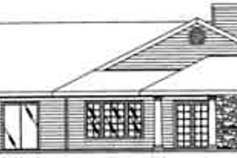 Traditional Exterior - Rear Elevation Plan #117-345 - Houseplans.com