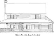 Country Style House Plan - 4 Beds 2.5 Baths 2431 Sq/Ft Plan #11-207 Exterior - Rear Elevation
