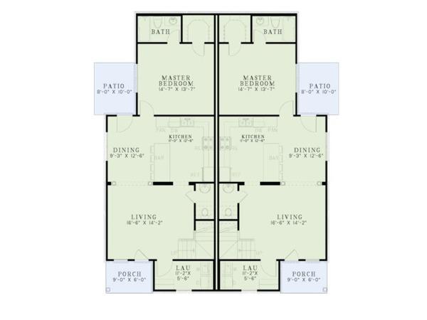 Ranch Floor Plan - Main Floor Plan Plan #17-3418