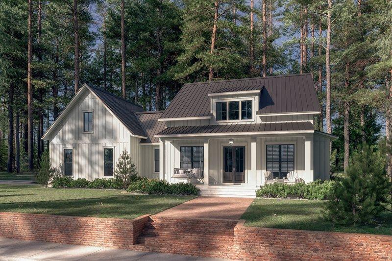 Dream House Plan - Farmhouse Exterior - Front Elevation Plan #430-256