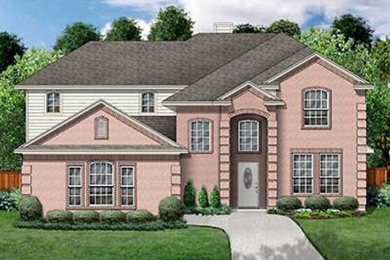 Traditional Exterior - Front Elevation Plan #84-272 - Houseplans.com