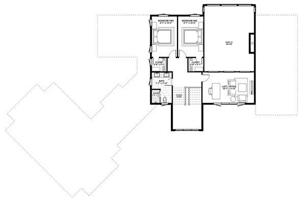 Dream House Plan - Contemporary Floor Plan - Upper Floor Plan #928-363