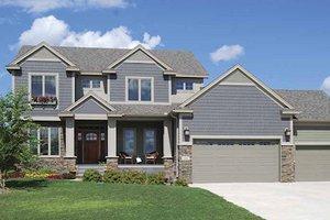 Craftsman Exterior - Front Elevation Plan #320-494