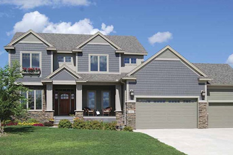 Dream House Plan - Craftsman Exterior - Front Elevation Plan #320-494