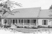 Southern Style House Plan - 3 Beds 2 Baths 1610 Sq/Ft Plan #112-114