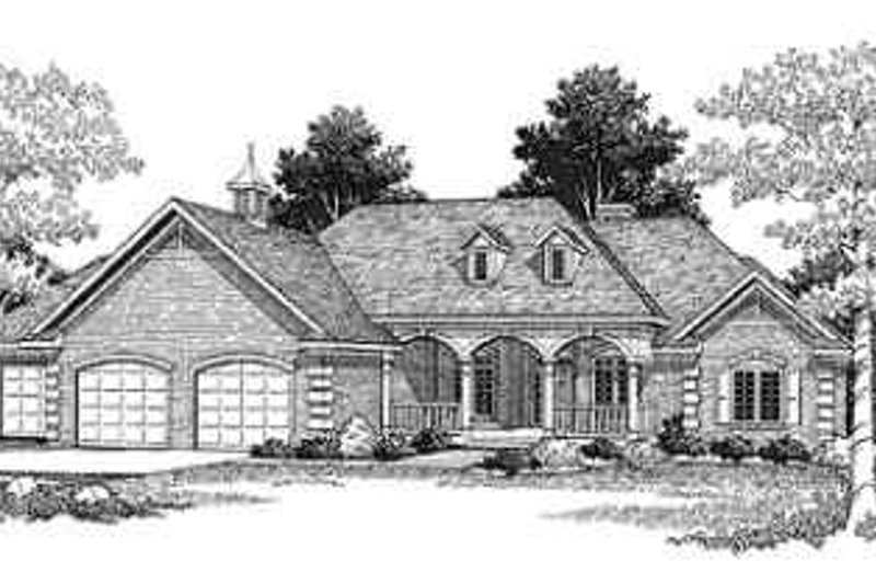 Ranch Exterior - Front Elevation Plan #70-334